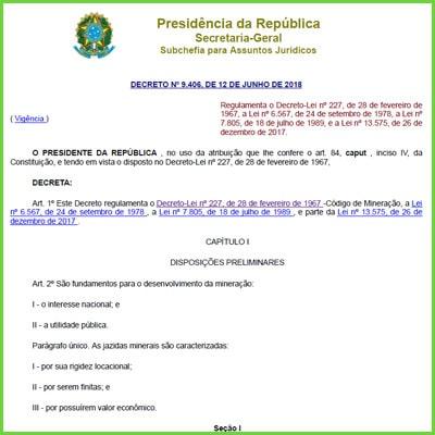 Regulamento Código de Mineração