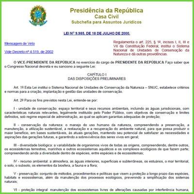 Unidades de Conservaçao